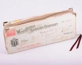 Book Purse Vintage Bank Check