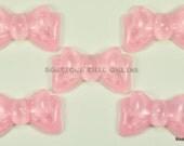 Glitter Bows- Pink 5 pcs (34MM x 20MM) (B 2001)
