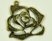 Open Rose-Vintage Inspired, 3 pcs (26MM)(fl5231)