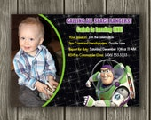 Buzz Lightyear Birthday Invitation - FREE thank you card included