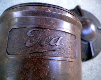 Bakelite Tea Jar Round Container