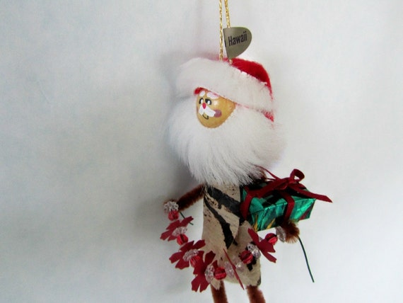 Hawaiian Christmas ornament -Santa - Hawaii St Nick original