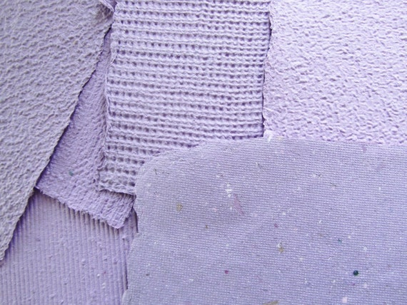 Handmade Paper - Recycled - Purple - Texture