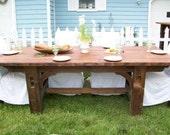 Rustic Vineyard Table