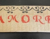 Amore Hand Painted Wooden Sign