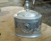 Embossed silver trinket box