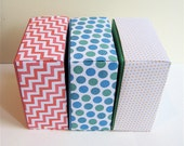 Party Favor Gift Boxes - Spring Colors - Assortment of 5