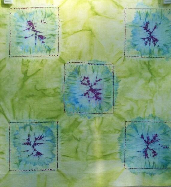 Hand dyed fabric  - Shibori fabric - Centauria