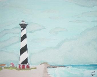 Cape Hatteras Lighthouse Original Oil Painting