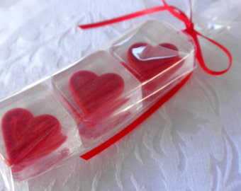 Heart Soap Set for gift, wedding, shower favor, valentine
