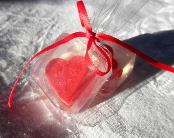 Red Heart Soap Favors