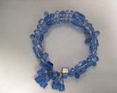 Baby Blue Triple Memorywire Bracelet