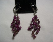 Purple Spiral Earrings