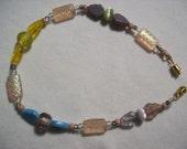 Pastel Leaf Ankle Bracelet