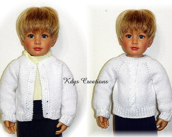 "Knitted Sweater PATTERN for 18"" Kidz N Cats Dolls Sent PDF Format"