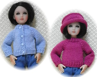 "Sweater & Hat PATTERN for 12"" Senson / Kish Sent PDF Format"