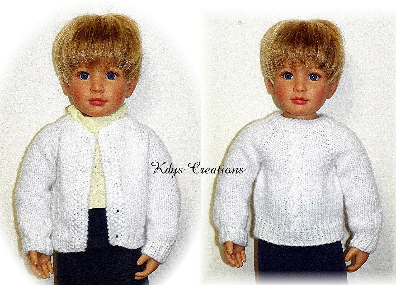 Knitting Patterns For Kidz N Cats Dolls : Knitted Sweater PATTERN for 18 Kidz N Cats Dolls Sent
