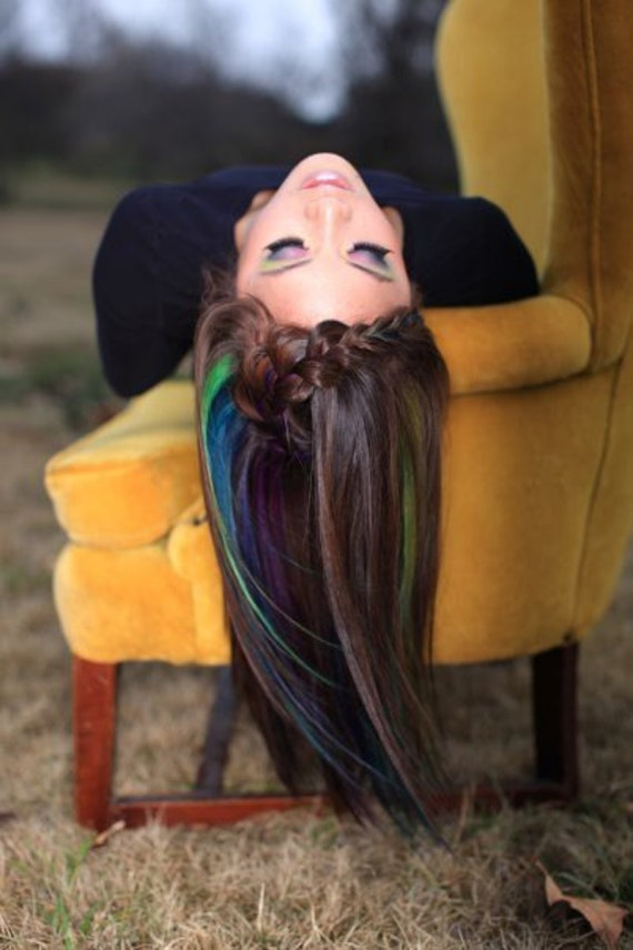 Peacock Human Hair Extension - FREE SHIPPING