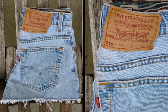 Levis Denim Cut Off Hipster Shorts Size Extra Small