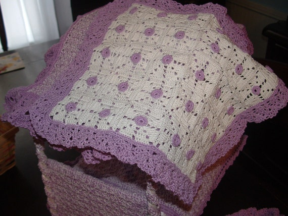Crocheted granny square afghan for Barbie dolls