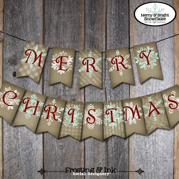 christmas banner christmas bunting merry christmas banner