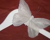 Add a butterfly to your wedding hanger or childrens hanger, bride, children, gift, kids hanger, bridesmaid, custom hanger