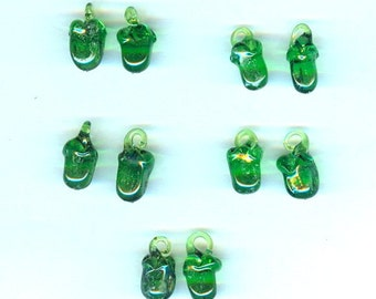 Lampwork Glass Green Bell Pepper Charms - Healthful, Beautiful and Cost-Effective