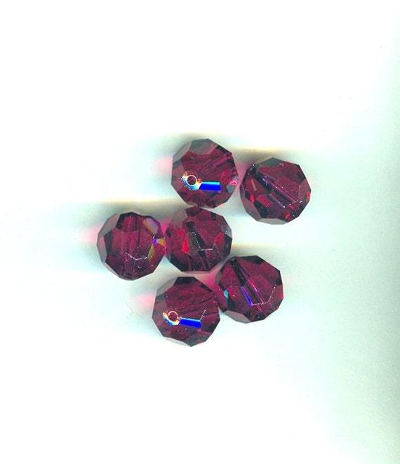Swarovski Crystal Beads 14mm Art 5000 Ruby - 6 Pieces