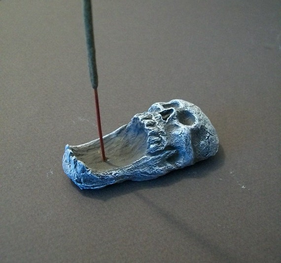 Skull Incense Burner / cone and stick incense burner / Only 1 AVAILABLE