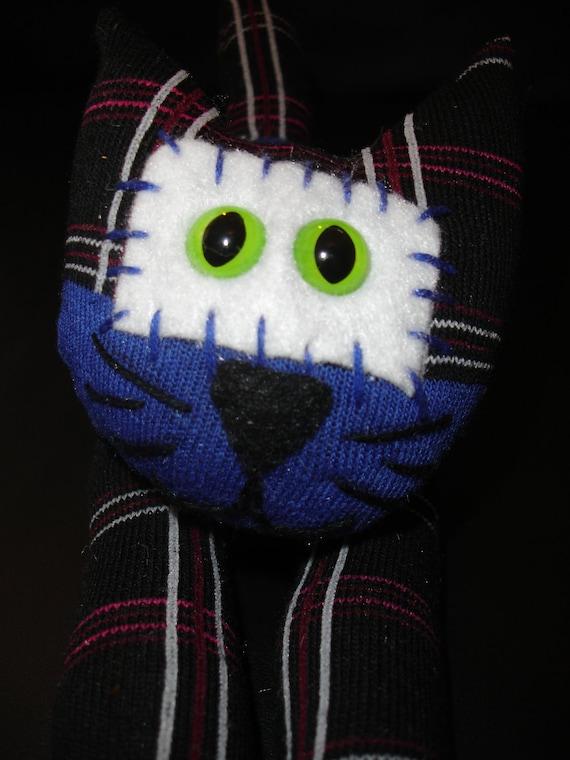 ON SALE Spook the Black Cat Sock Animal