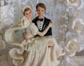 hand made Wedding cake topper / Wedding table center piece decor / home decor READY TO SHIP