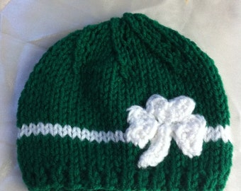 St patrick's hat size  baby girl or baby boy shamrock hat / toddler Irish hat / children Irish hat READY TO SHIP
