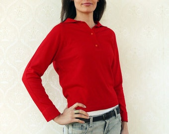 "Vintage pullover/sweater, small - Rockerbilly Red . . . . . . . . . . . . ""Like"" our fb page for 10% discount"