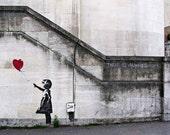 Banksy Travel Photograph 8x10, Travel Photography, London Photography, Banksy, Red Balloon