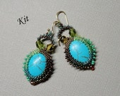 KIT and Pattern for lagoon beading tutorial beaded jewelry seed bead earrings beadweaving tutorials beading pattern instructions