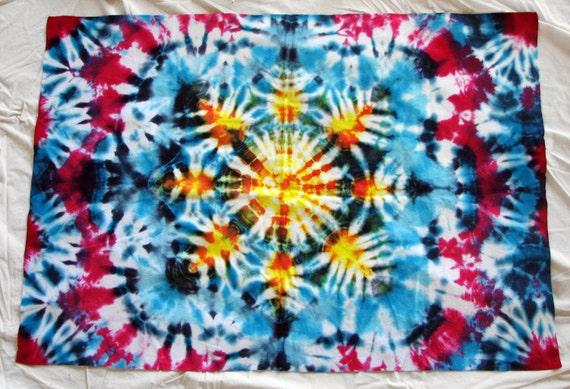 Flannel Sunburst Tie Dye Baby Blanket