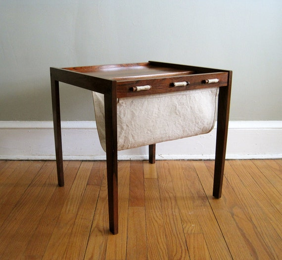 Free Shipping - Mid Century Magazine Table, End Table, Bent Silberg Mobler