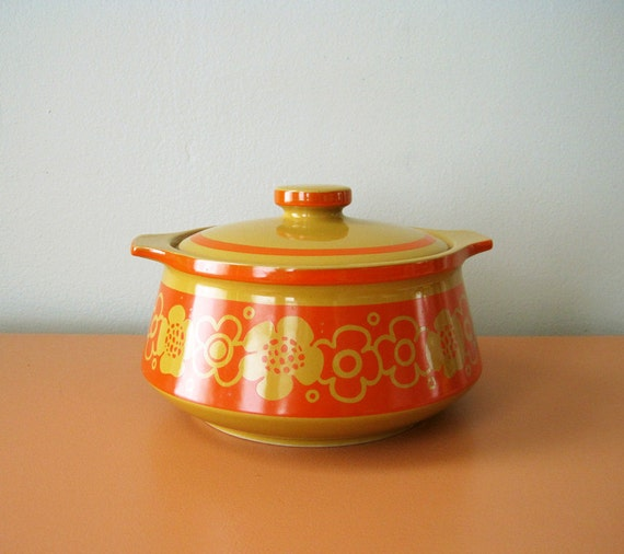 RESERVED for LIV /// Vintage Cortina Stoneware Casserole, Japan, 1970s