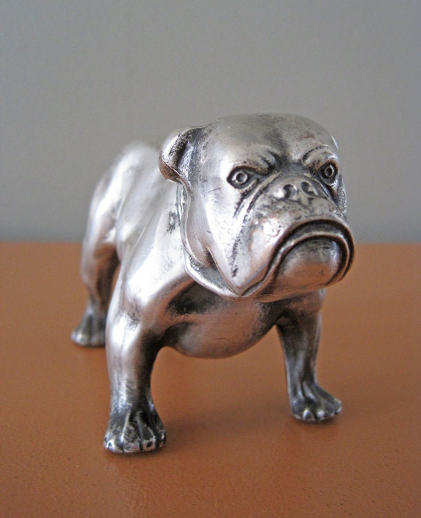 RESERVED Pewter Mack the Bulldog Figurine Paperweight Mack