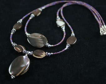 Beautiful, Double Strand, Mother of Pearl Necklace