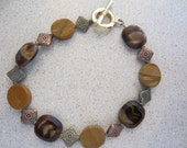 Natural Stone (semi precious) and Czech glass bracelet