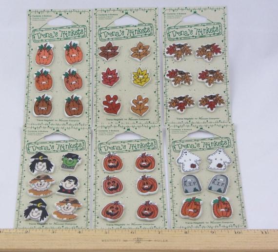 Trena's Trinkets Ceramic Buttons - Fall & Halloween