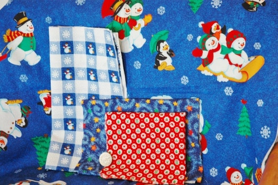 Half Yard Christmas Happy Scrappy Fabric Pack  Stash Builder of Fabric Plus Your Choice of Bias Tape, Rick Rack, OR Ribbon