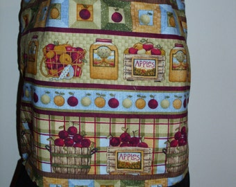 Handmade tote bag, diaper bag, apples,country,farm,  Spring Cleaning sale was 15.00 Now 10.00