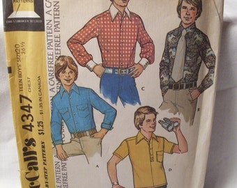 Vintage McCalls sewing pattern 4347, size: 20, teen boys