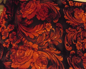 Red n black satin fabric