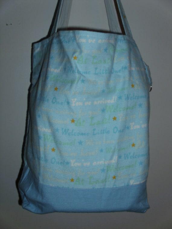 Handmade Diaper Bags : Items similar to handmade tote bag diaper baby boy