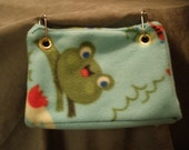 Plush Frog pattern, Cute Bird snuggle hut, Bird Bed, Bird Hut, Cozy Fleece , Bird tent, Bird Toy, Conure, Quaker, Lovebird.