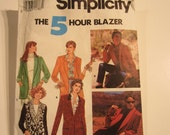 Uncut Simplicity 7522 size HH womens 5 Hour Blazer sewing pattern