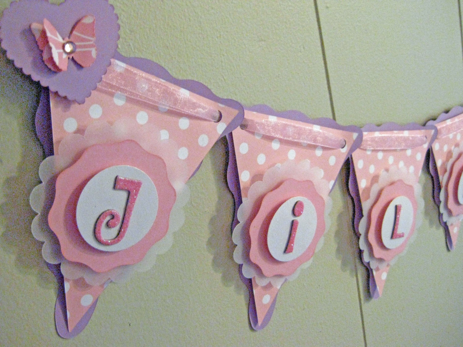 Custom girl baby shower banner personalized by Baby shower banners
